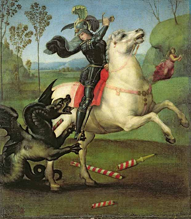 St. George and the Dragon by Raphael
