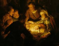 The Adoration of the Shepherds, Rembrandt