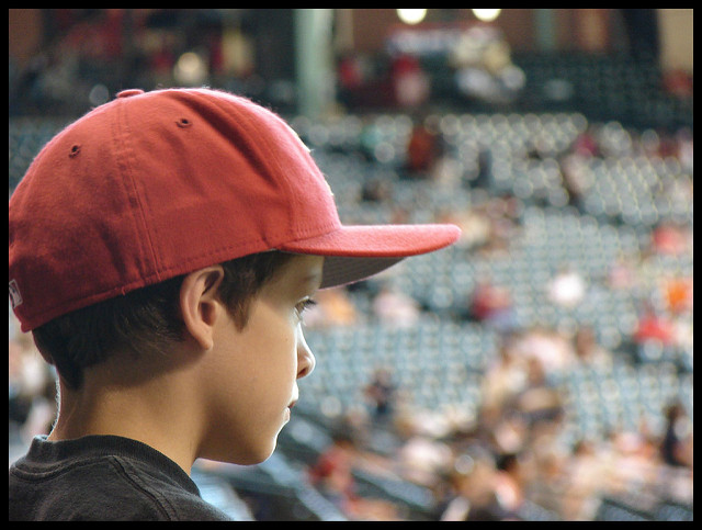 Boy in a ball cap