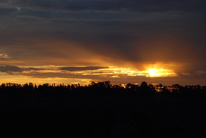 The awakening sun